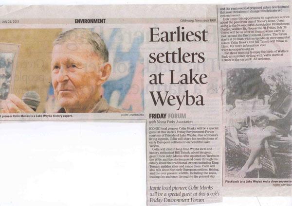 23-July-2013-Noosa-News-Earlliest-Settlers-at-Lake-Weyba