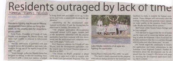 14-November-2013-Noosa-Today-Residents-Outraged-By-Lack-Of-Time