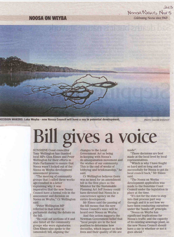 5-November-2013-Noosa-News-Bill-Gives-A-Voice